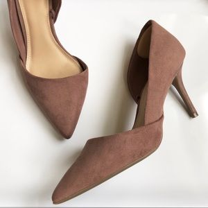 Old Navy D'Orsay Heels RUSTY ROSE color sz 8